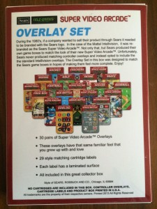 Super Video Arcade SEARS - Overlay Set - NIB