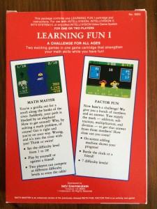 Learning Fun I - Back