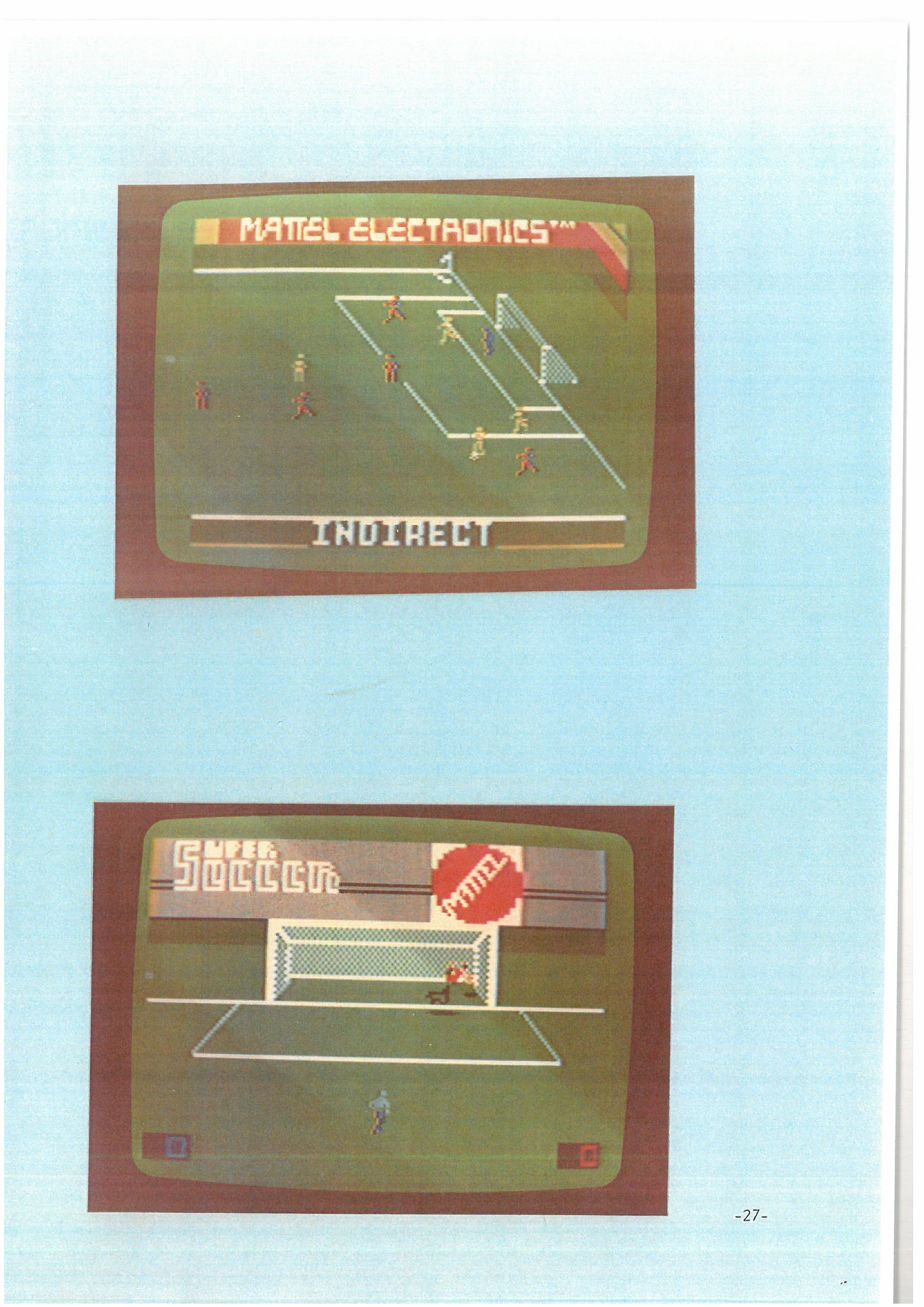 World Cup Soccer for Intellivision