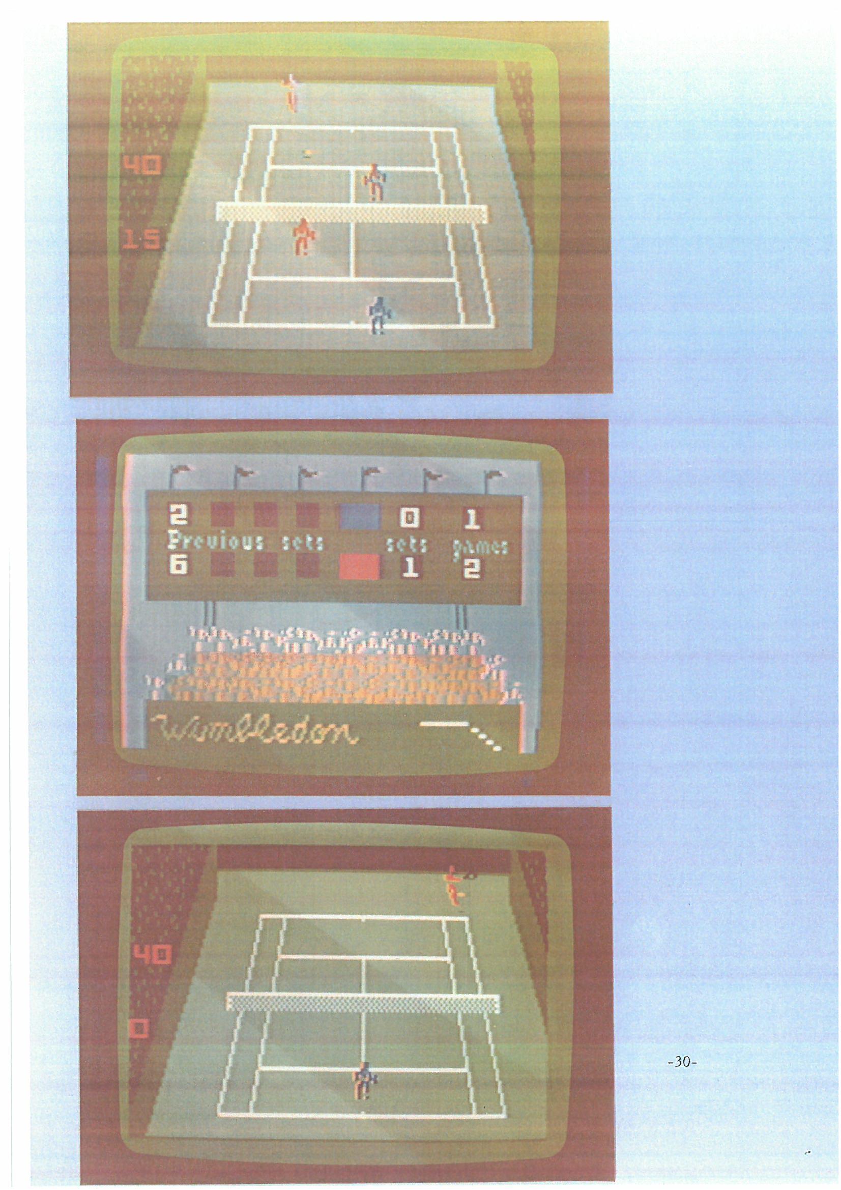 Championship Tennis for Intellivision